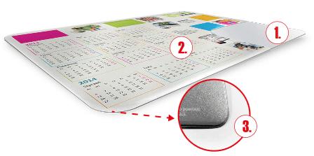 maty reklamowe - maty na ladę sklepową - maty z kalendarzem