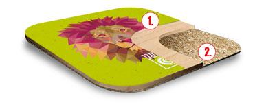 Podkładka drewniana druk UV